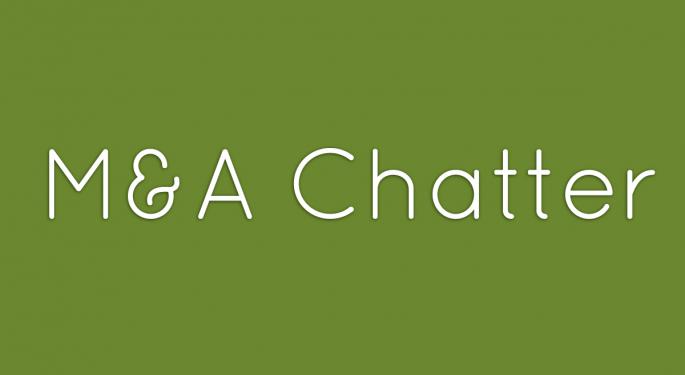 Benzinga's M&A Chatter for Thursday October 31, 2013