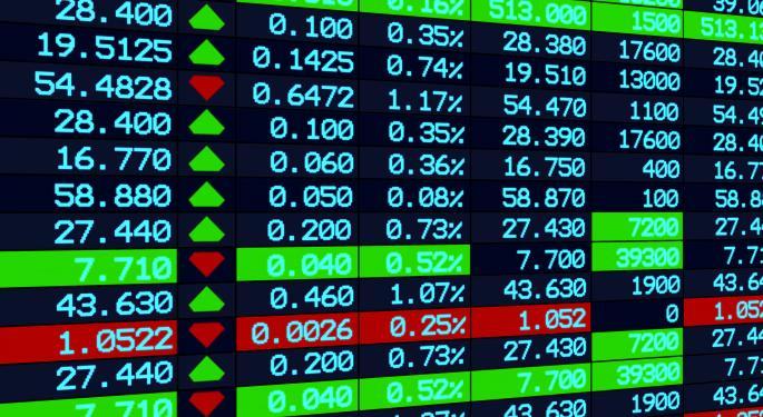 Mid-Morning Market Update: Markets Mostly Lower; Goldman Sachs Posts Upbeat Profit