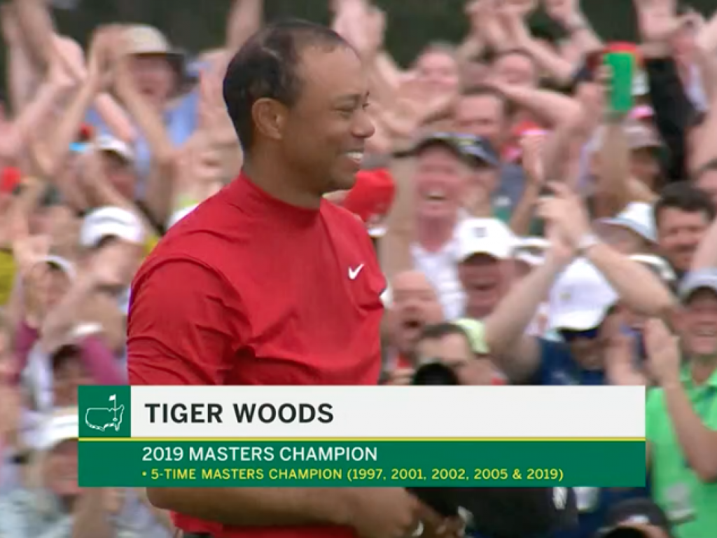 tiger woods wins 2019 masters tournament  his first since