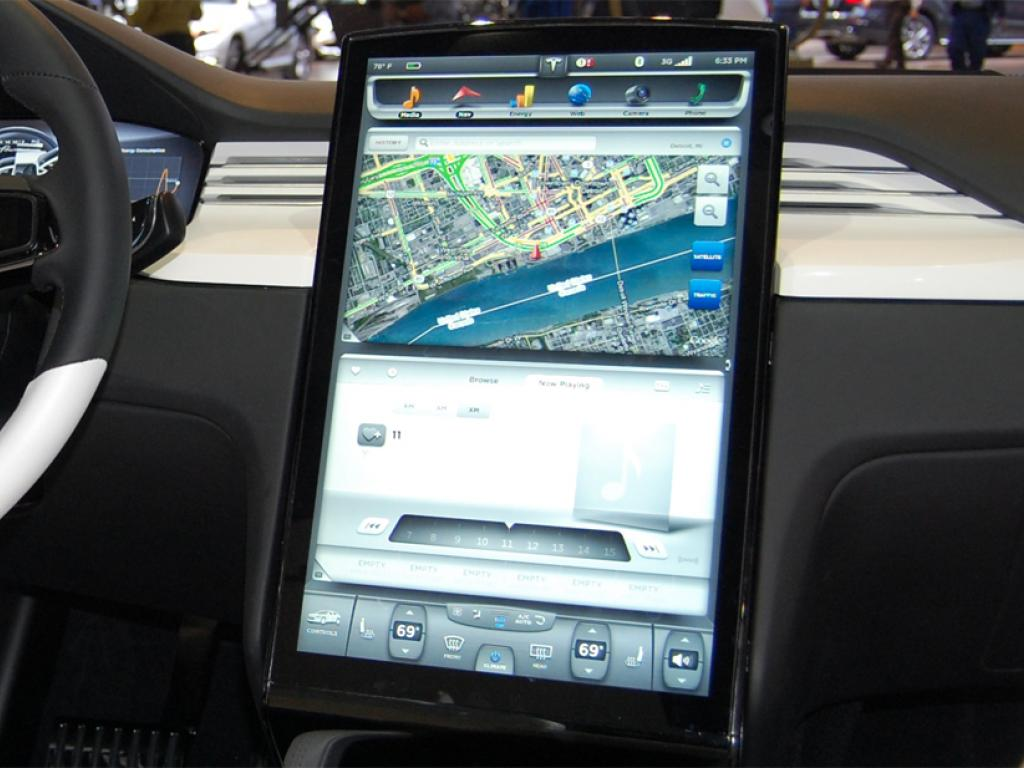 Apple Inc. (NASDAQ:AAPL), Panasonic Corporation (OTC:PC) - Tesla's Model X Dashboard Looks Like ...