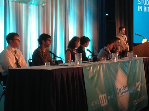 students in bitcoin panel