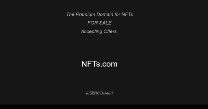 NFTS.com Wants To Sell Domain Name For $31 Million