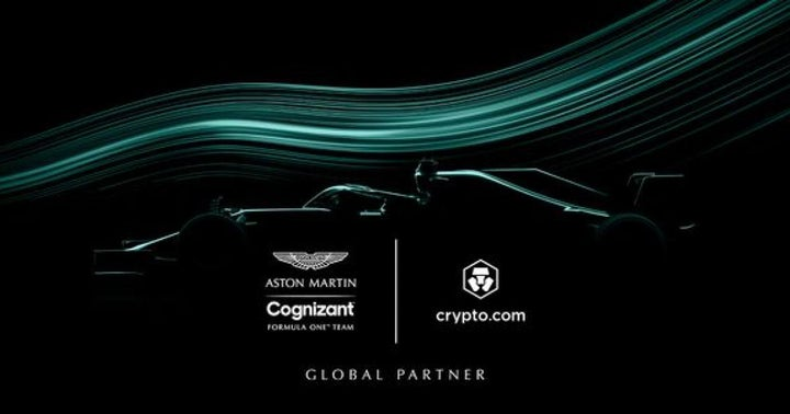 Aston Martin Cognizant Formula One Team, Crypto.com Announce Partnership