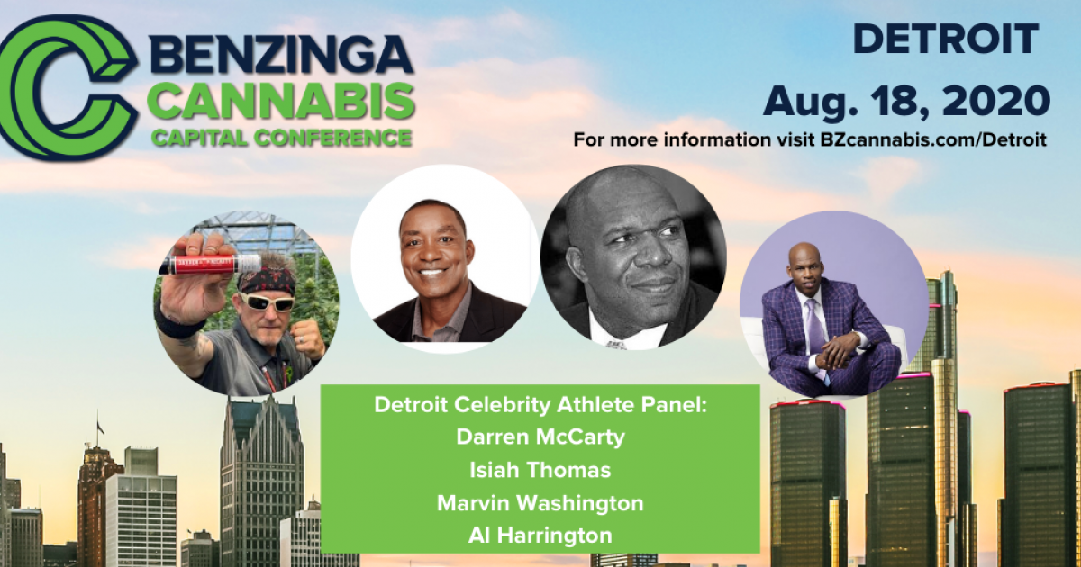Tuesday 3:05 PM ET: Isiah Thomas, Al Harrington, Marvin Washington, Darren McCarty To Talk Cannabis At Benzinga Event