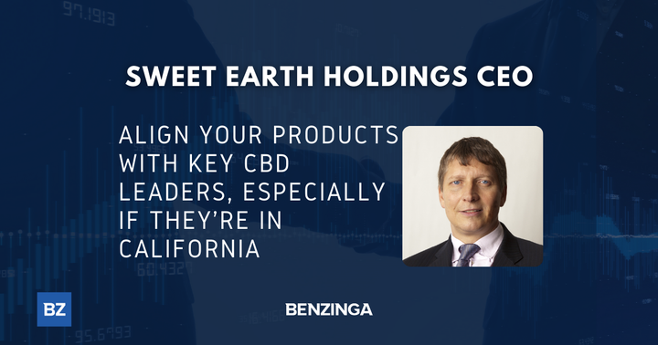 Sweet Earth Holdings CEO: Align Your Products With Key CBD Leaders, Especially If They're In California