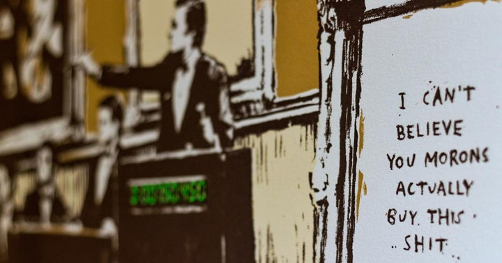 'Morons,' Banksy's Art Work Burned In Real Life, Sells For $394,000 As A Non-Fungible Token