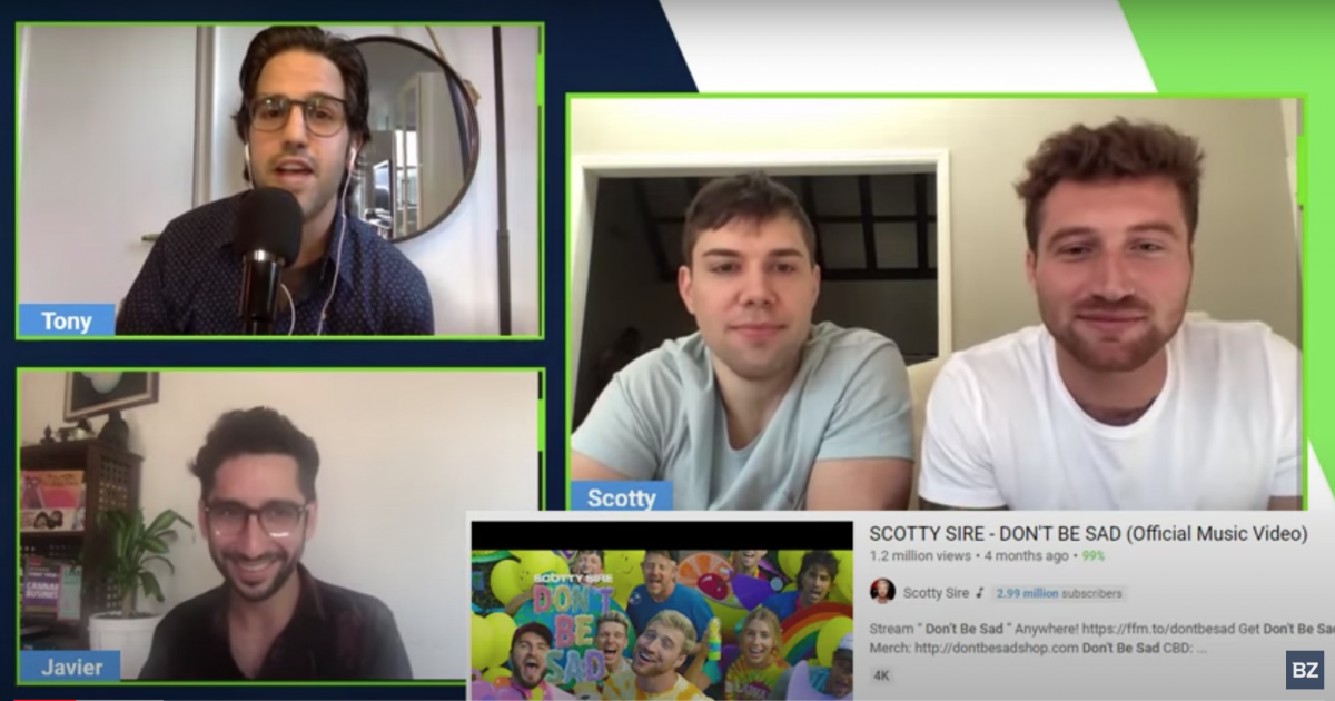 YouTube Star Scotty Sire And Collaborator Jay Boice Discuss New Startup Venture iCBD