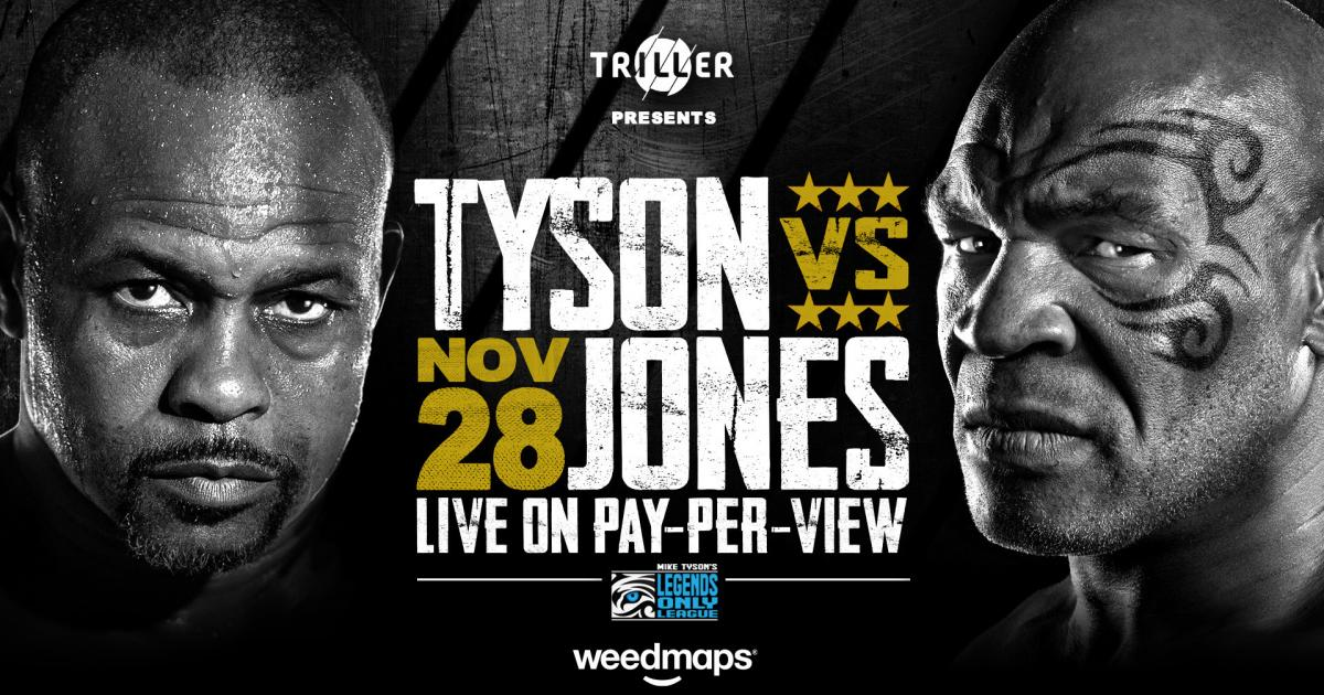 Cannabis Company Weedmaps To Sponsor Mike Tyson Vs. Roy Jones Jr. Bout, Nas Cameos