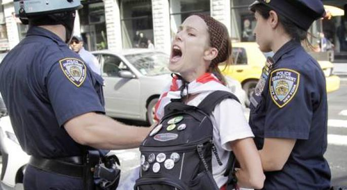 Dozens of Activists Arrested on Occupy Wall Street's One-Year Anniversary
