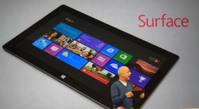 Microsoft CEO Ballmer Hints That Surface Tablet Price to be Between $300 to $800