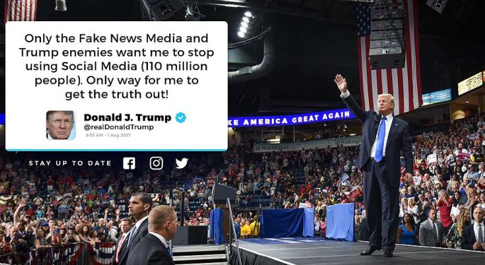 Trump Tweets Facebook Was Always Against Him, Hints At Collusion With NY Times And Washington Post