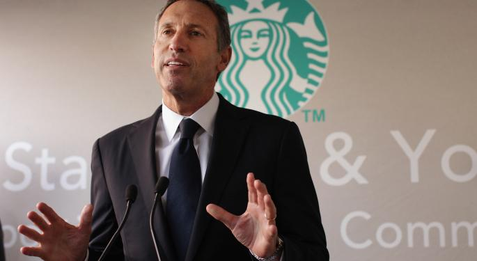Starbucks CEO Howard Schultz Breaks Down Q3 And Comments On Competition SBUX