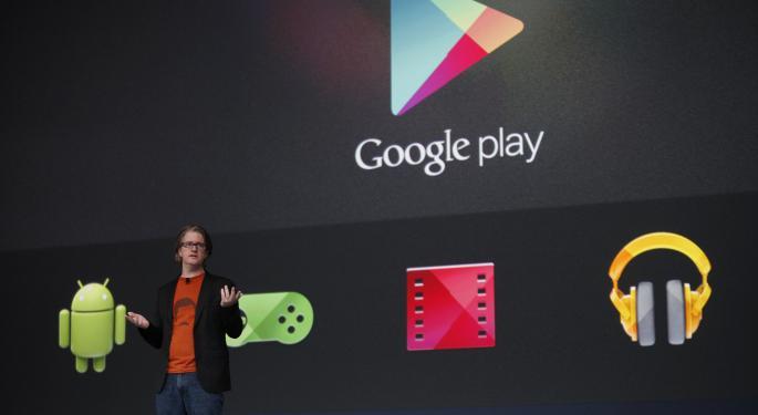 Google Play App Revenue Grows Still Trails Apple App Store AAPL, GOOG
