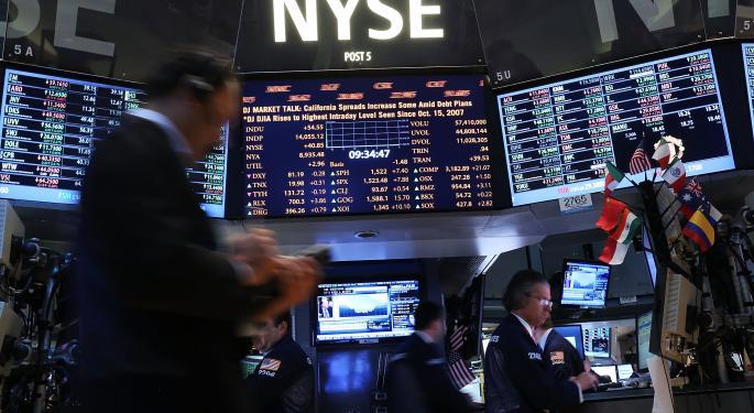 Mid-Morning Market Update: Markets Mostly Higher; GE Profit Beats Estimates