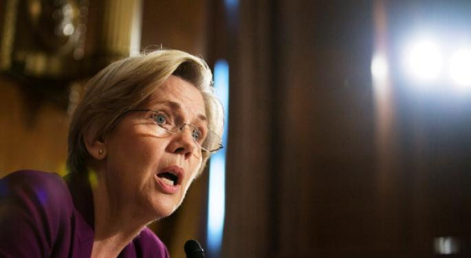 Sen. Elizabeth Warren D-MA Defends 21st Century Glass-Steagall Act