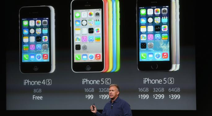Apple's Newly Announced $99 iPhone 5C, $199 iPhone 5S Coming September 20 AAPL