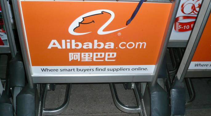 A Look At Some Large Alibaba Option Trades