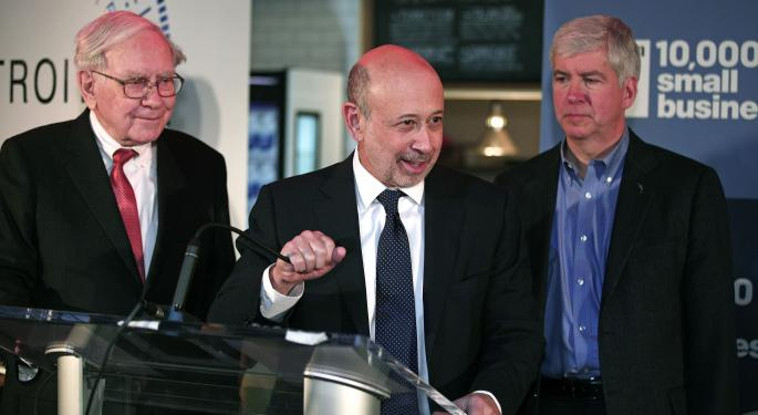 Blankfein, Buffett Bring '10,000 Small Businesses' Initiative to Detroit