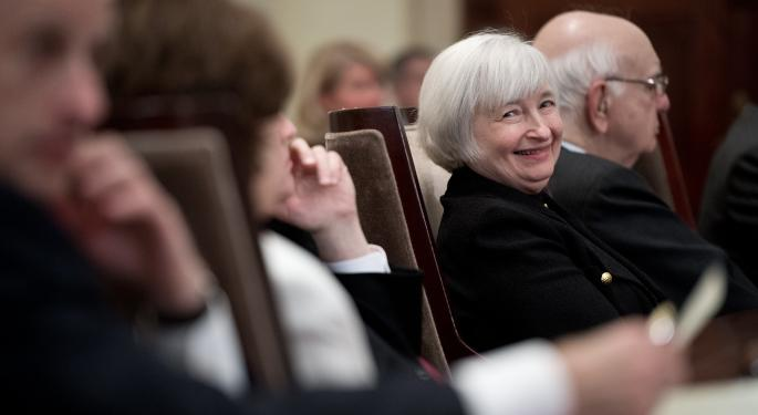 Yellen's Speech Not Enough To Keep Dow, S&P 500 In Positive Territory