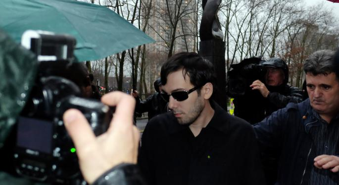 Martin Shkreli Avoids Congressional Drug Price Hearings; Valeant Interim CEO Plans To Appear