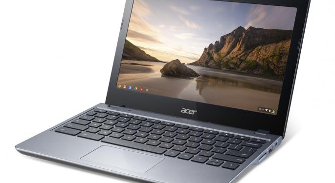 Acer Unveils New Chromebook With Thinner Body, Faster Boot Times And Longer Battery Life