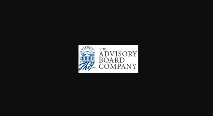 JPMorgan Doesn't Advise Buying Advisory Board, Despite 'Strategic Alternative' Talk