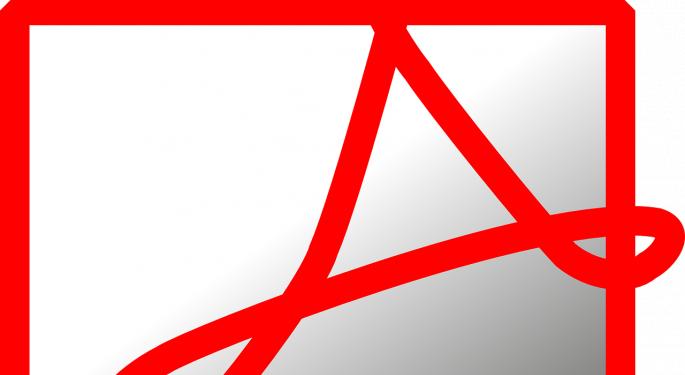 Analyst: Buy The Adobe Dip, Despite Q3 Bookings 'Blip'