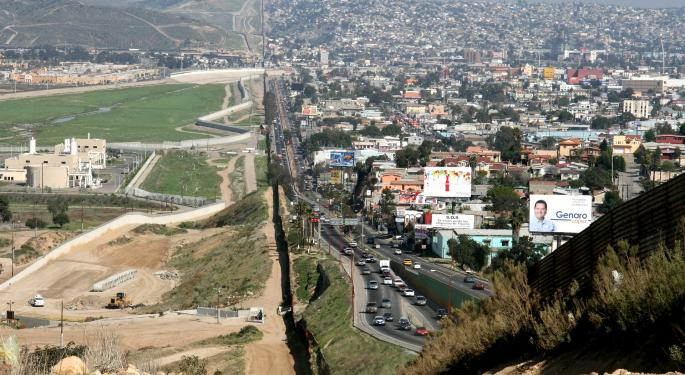 Trans-Border Truck Freight Along The US-Mexico Border Was Down 1 Percent In June