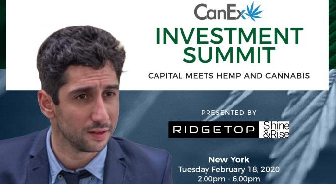 Benzinga Cannabis Managing Director Javier Hasse To Speak At CanEx Investment Summit In NY, Feb 18