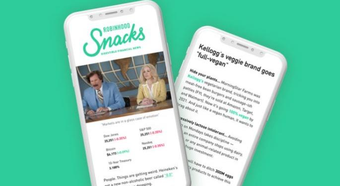 Robinhood's First Acquisition Is Millennial-Focused Podcast And Newsletter MarketSnacks
