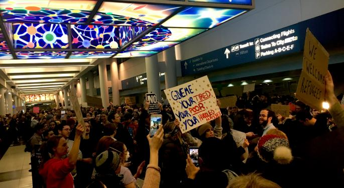 Delta Cancellations Vs. Trump Protests: Which Caused More Of A Headache?