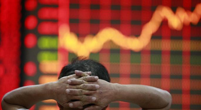 Chinese Stocks Experience Largest Decline Since 2007