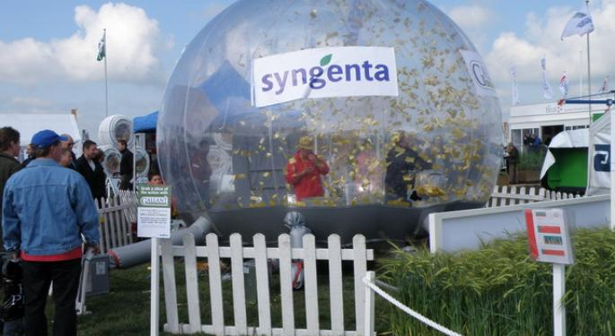 Bloomberg Reports Syngenta-ChemChina Closer To Reality; Furthering Original Benzinga Report