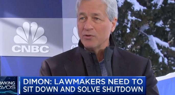 JPMorgan CEO Jamie Dimon Talks Recession Risk, Trade With China In Davos