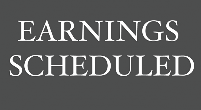 Earnings Scheduled For November 1, 2017
