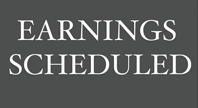 Earnings Scheduled For November 10, 2016