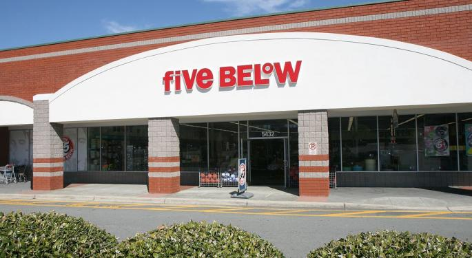 Credit Suisse Downgrades Five Below After 63% Rally: 'We See Risk-Reward As Balanced'