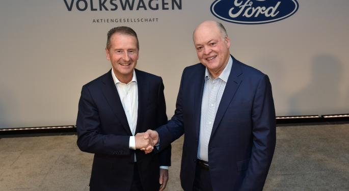 Ford Confirms Expansion Of Autonomous Driving Initiative With Volkswagen