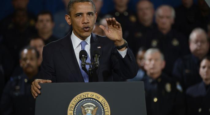 Pure-Play Gun Stocks Explode Amid Obama Town Hall Anticipation