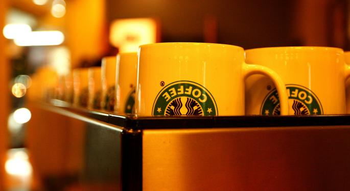 Starbucks' Same-Store Sales Fall Below 4% For First Time Since 2009