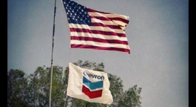Mid-Morning Market Update: Markets Surge; Chevron Posts Lower Profit