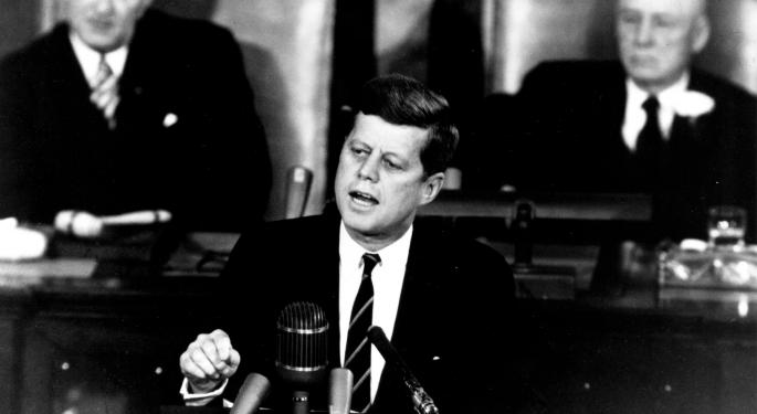 On What Would Be JFK's 100th Birthday, The Words That Put A Man On The Moon