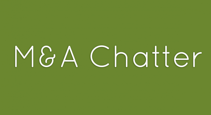 Benzinga's M&A Chatter for Monday April 15, 2013