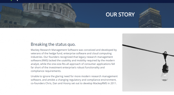 MackeyRMS: SaaS Management Software Aggregating Research Content
