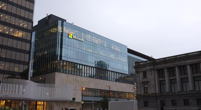 Microsoft Shares Fall As Company Warns Of Q3 Earnings Miss Due To Coronavirus Impact