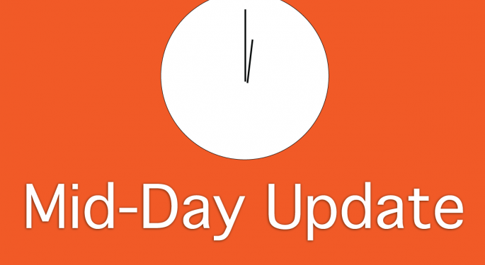 Mid-Day Market Update: Markets Mixed, Infinera Falls