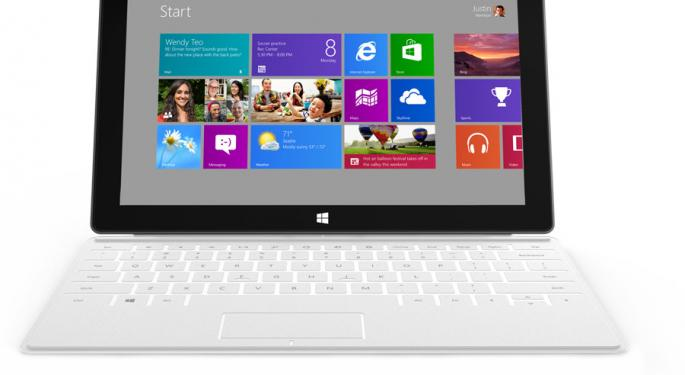 Microsoft Says No Plan for Surface Mini Tablet