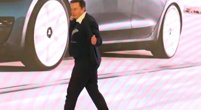 Elon Musk Busts A Move As First Chinese-Made Model 3s Delivered