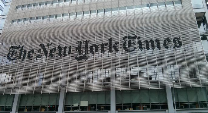 JPMorgan Buying New York Times Stock As More Consumers Buy Digital Subscriptions