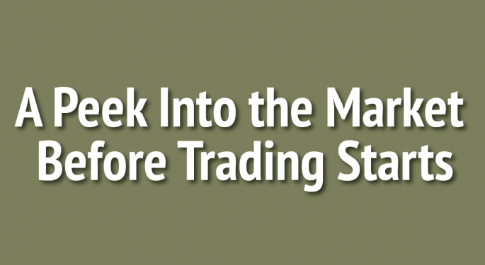 US Stock Futures Flat; Apple Shares Drop In Pre-Market Trading